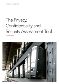 The Privacy, Confidentiality and Security Assessment Tool — User manual